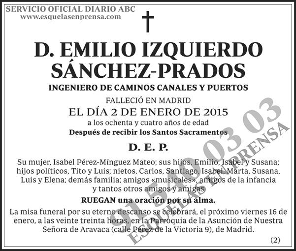 Emilio Izquierdo Sánchez-Prados